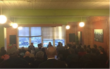 A room full of entrepreneurs listen in at Bamboo Detroit