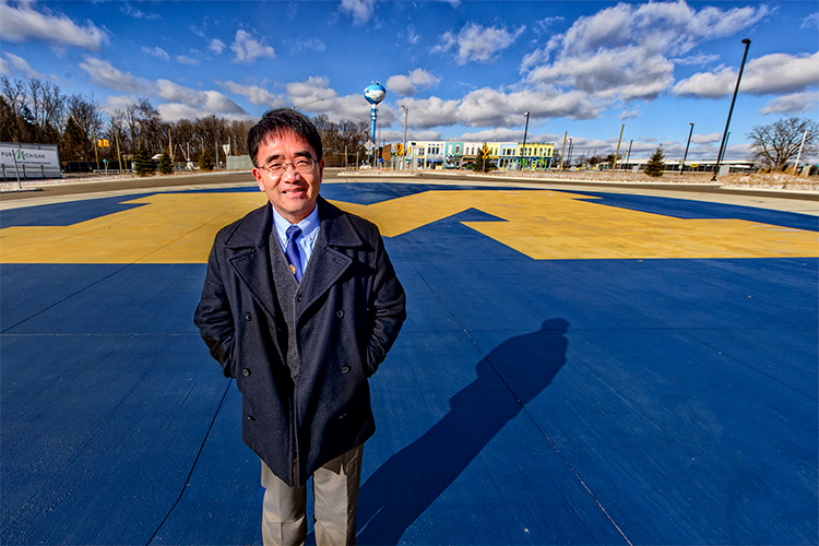 University of Michigan's Mobility Transformation Center Director Huei Peng at Mcity