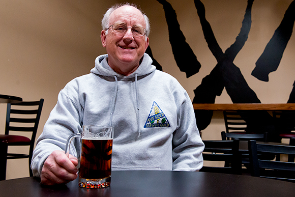 Jeff Renner of Ann Arbor Brewers Guild enjoying a pint at Wolverine State Brewing Co