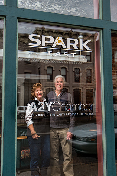 Donna Gilkey-Lavin and Manuel Lavin at SPARK East