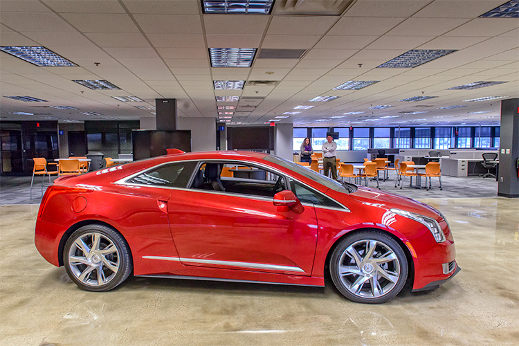 A Cadillac ELR Engineering Mule for Maven car sharing technology at General Motors Technical Center Campus, Warren, MI