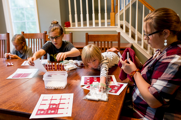 Karen Guilmette's children help with her business, Natural Red