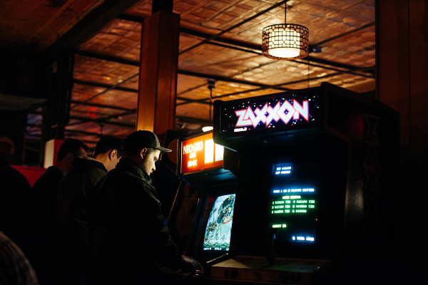 An Offworld Arcade pop-up at Checker Bar