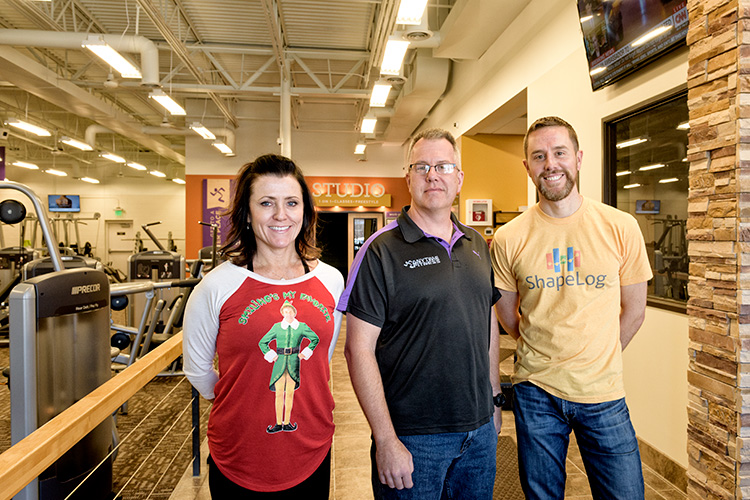 Laura Bommarito and Scott Wiesler of Anytime Fitness with Brian Hayden