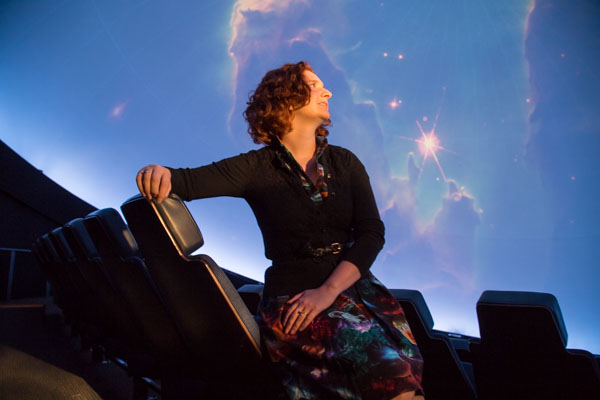 Paulette Auchtung, planetarium coordinator and staff astronomer at the Michigan Science Center