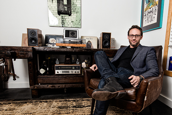 Noah Kaplan Of Leon Speakers With His Office Hi Fi